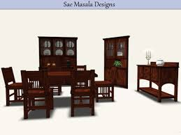 Country Dining Room Set Mesh China Cabinet Corner Shelf Buffet Table And Chairs Shaker Style Texture Change HUD Rustic