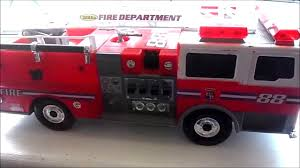 100 Tonka Fire Rescue Truck 1992 HASBRO TONKA RESCUE TOY FIRE TRUCK 88 WITH LADDERS Lights And