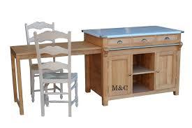 meuble de cuisine bois massif ilot central en bois massif