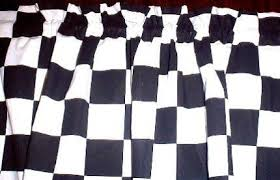 Checkered Flag Curtains Uk by Window Curtain Valance Made From Nascar Checkered Flag Fabric