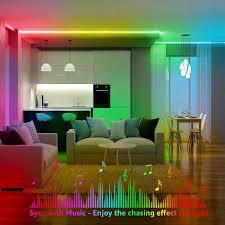 lepro 5m led magiccolor rgb mit musik led streifen sync set mit fernbedienung ip65 wasserdicht licht band farbwechsel lichterkette flexibel