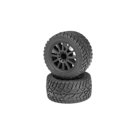 JConcepts 30563040 G-Locs E-Stampede Pre Mounted Wheels - Black, 2.8""