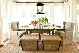 Natural Fiber Rugs For Dining Room Storage Bench Farmhouse With White Curtain Panels