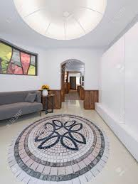 100 Loft Style Home Hall In A With A High Ceiling With Lighting Stock
