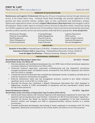 Military Experience On Resume 15 Sample To Civilian Resumes