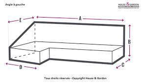 canapé angle sur mesure housse protection sur mesure pour canapé angle à gauche