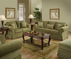 Beautiful Green Set Simmons Arlington Moss Sofa & Loveseat diamond chenille