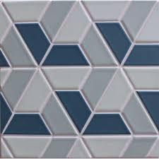 clayhaus ceramic 3 5 half hex pattern b modwalls designer tile