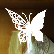 100Pcs Set Design Mini Wedding Paper Butterfly Cup Cards Party Laser Cut Escort Card Wine Decoratives Handmade On Aliexpress