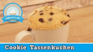 schneller cookie tassenkuchen für die mikrowelle