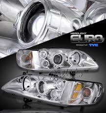 98 02 honda accord projector headlights chrome by tyc