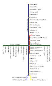 Metro Subway Baltimore metro map United States