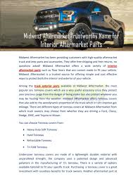 Midwest Aftermarket Trustworthy Name For Interior Aftermarket Parts ...