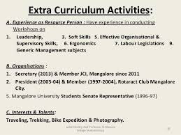 12 Luxury Extra Curricular Activities Examples For Resume Photos
