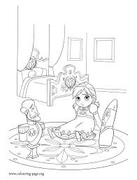 Ana Is Lonely Without Her Sister Elsa How About To Print And Color This Amazing