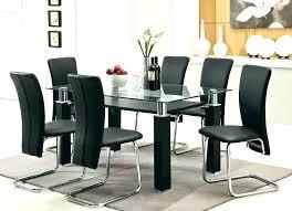 Black Kitchen Table Set Dining Room Modern Sets Glass
