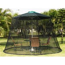 Mosquito Netting For 11 Patio Umbrella by Black Universal Weighted Mosquito Net For 9 Foot Patio Umbrella