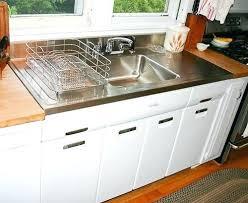 white kitchen sink with drainboard best stainless steel sinks
