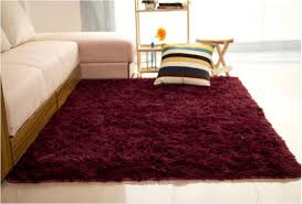 Fluffy Rugs Anti Skid Shaggy Area Rug Dining Room Home Bedroom