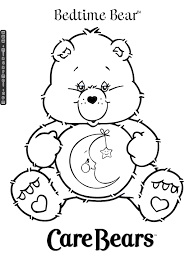 Care Bears Coloring Pages Bedtime Bear 1 Carebears