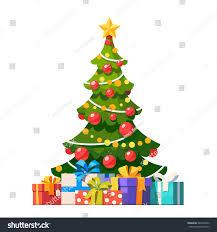 Ceramic Christmas Tree Bulbs Large by Star Decoration Balls Light Bulb Chain Stock Vector 345042842