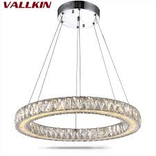 led pendelleuchte moderne hänge kreis ring moderne kristall led pendelleuchte esszimmer runden tisch geführt pendelleuchte