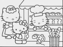 Marvelous Hello Kitty Printable Coloring Pages With Of And