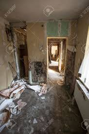 Interior Of An Old Abandoned And Rundown Apartment Stock Photo