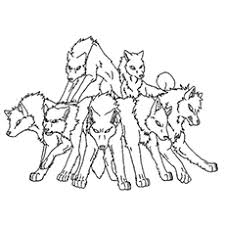 Jungle Book Wolf Coloring Pages Group Of Wolves To Color