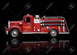 100 Black Fire Truck An Old Vintage Isolated Over Stock Photo Picture