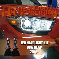 2016 2017 toyota tacoma led low beam headlight bulb upgrade