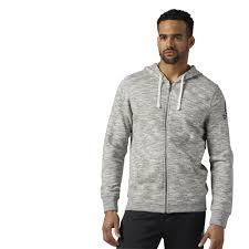 reebok elements full zip hoodie white reebok us