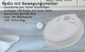 chilitec dusch radio mit bewegungsmelder dr 2 saugnapf