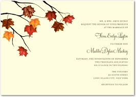 Back To Article Various Designs Of Fall Wedding Invitations
