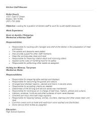 Resume Objective For Waitress Examples Restaurant Com Best Example How To Cocktail
