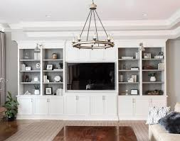 Well Appointed Features A White Built In Shelving Unit Fitted To Gray Walls Featuring Open Shelves With Charcoal Backs Lit By Boston Functional