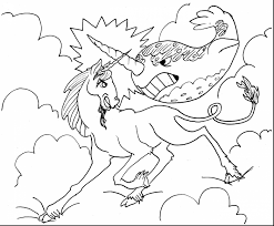 Wonderful Hard Unicorn Coloring Pages With Unicorn Coloring Page
