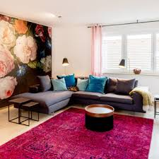 75 beautiful contemporary pink living room pictures ideas