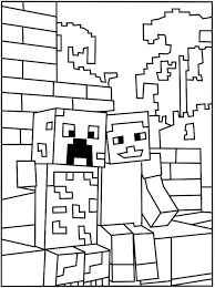 Printable Minecraft Creeper Coloring Page