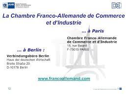 chambre de commerce allemande les relations économiques franco allemandes ppt télécharger
