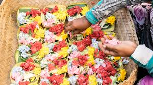 In Bali Canang Sari Flower Offerings Are A Way Of Life