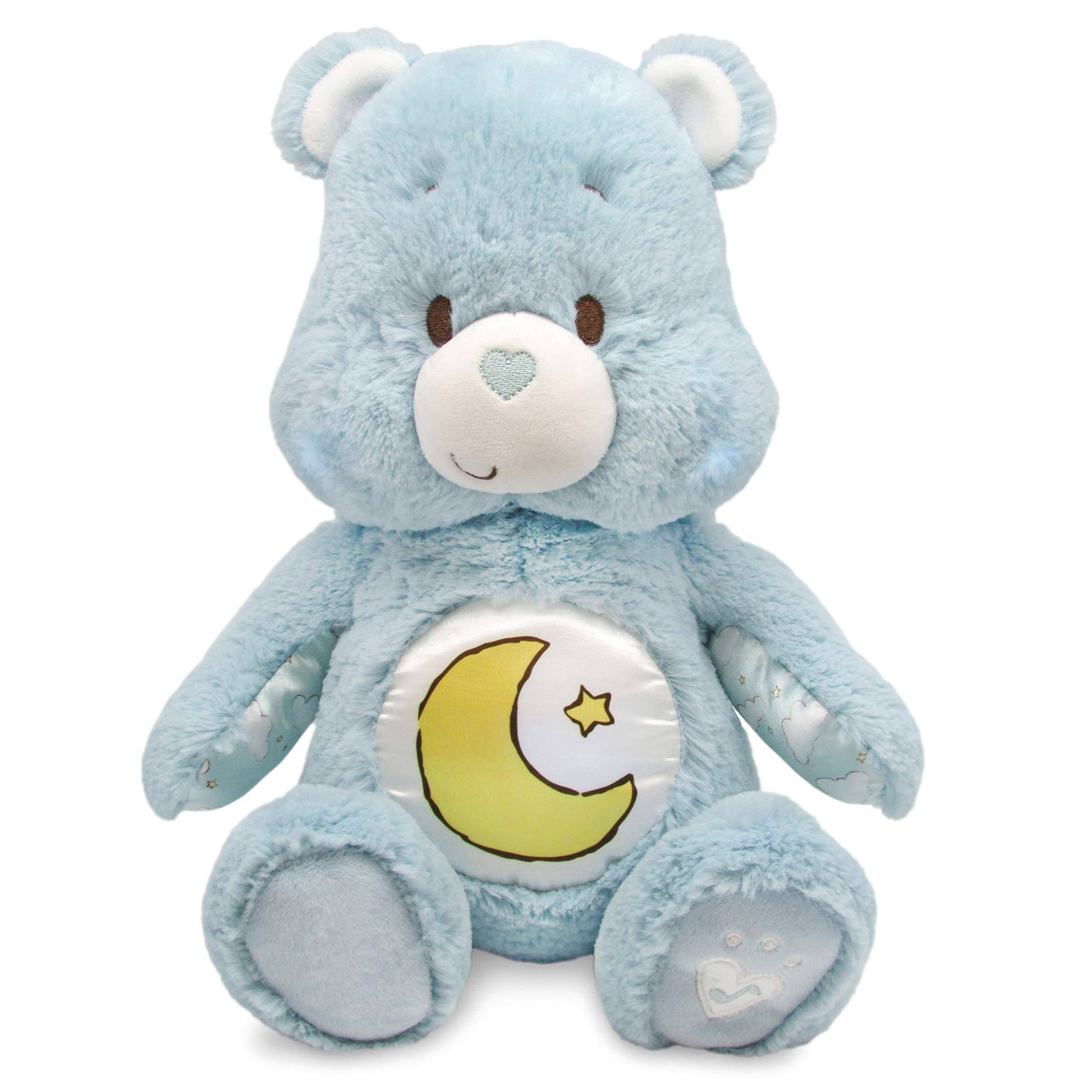 Kids Preffered Care Bears Soother Bear Stuffed Animal Plush Toy - with Music and Lights, Blue