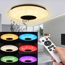 60w rgb led deckenleuchte bluetooth musik licht lautsprecher deckenle remote app steuerung de lager