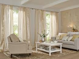 wohnzimmer gardine in beige vielfältige plissees