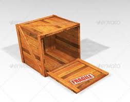 Open Wooden Crate By Kjpargeter