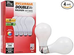 sylvania halogen l dimmable light bulb a19