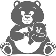 Tattoo Design Of A Mummy Teddy Bear With Her Baby