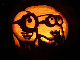 Minion Carved Pumpkins by Laufuhr Test Images Despicable Me Minion Pumpkin Stencils