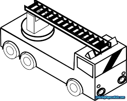 Fire Truck Printable Coloring Page | Coloring Pages For Kids