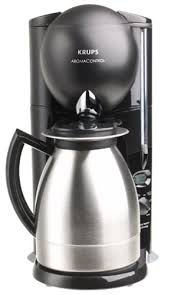 Krups 229 4G Aroma Control 10 Cup Coffeemaker With Thermal Carafe Black And